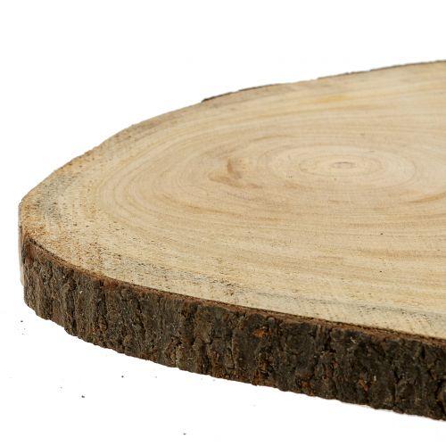 Trädskiva blå klocka träd natur Ø35–45cm