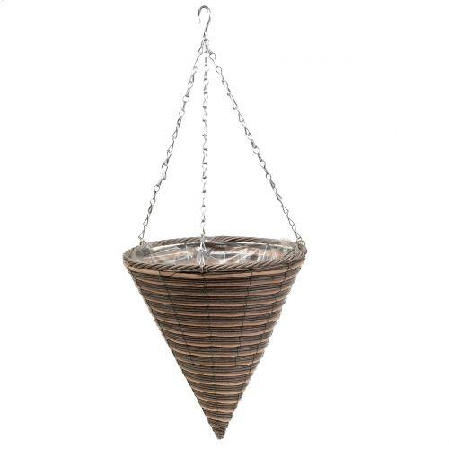 Korglampa kon naturlig Ø30cm H36cm