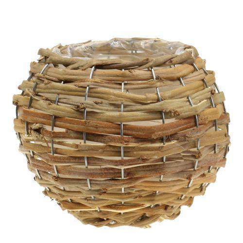 Korgboll för plantering av ljusbrun Ø21cm