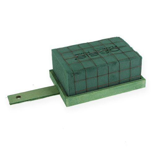 Blommigt skum tegel grönt metall trä 4st arrangemang underlag
