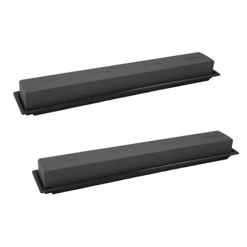 Plug dimensioner bordsdekoration plug skum svart 48cm 4st