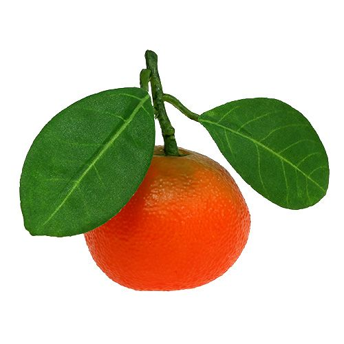 Orange mini med blad 5cm 8st