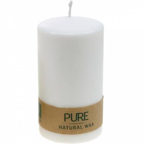 PURE pelarljus 130/70 naturligt vaxljus med rapsvaxljusdekoration