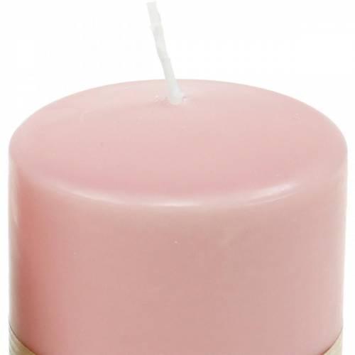 PURE pelarljus 90/70 rosa naturligt vaxljus hållbart ljusdekoration