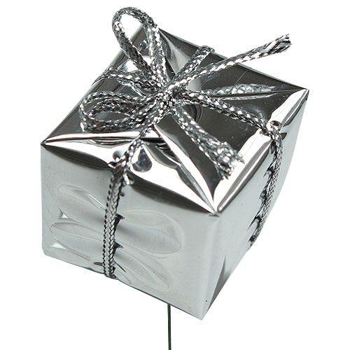 Paket på tråden silver 2,5 cm 60 st