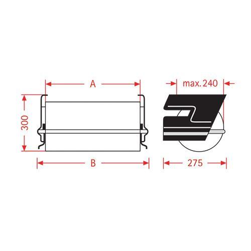 Pappersfolie under bordsdispenser ZAC 50cm