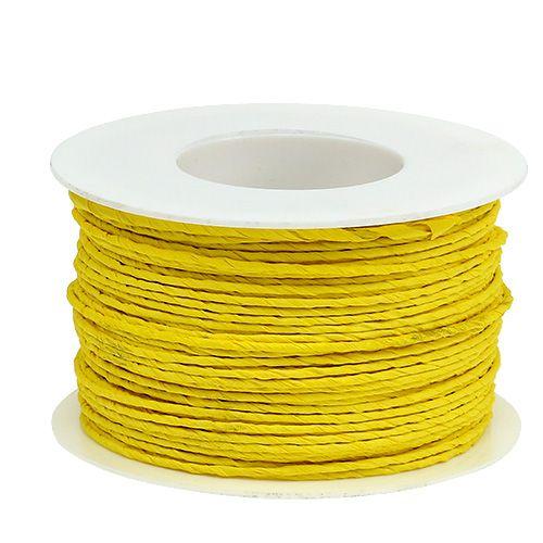 Papperssladdlindad Ø2mm 100m gul