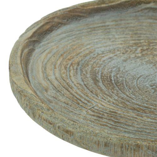 Dekorativ platta Paulownia trä Ø26cm