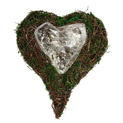 Plantera hjärta som arrangemang bas 30x35cm H8cm