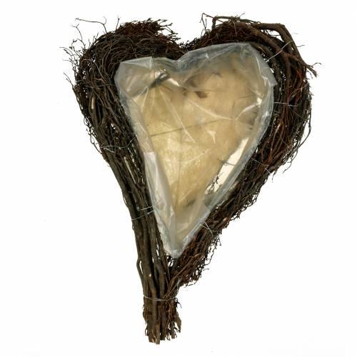 Växt hjärta grenar natur 40cm x 30cm