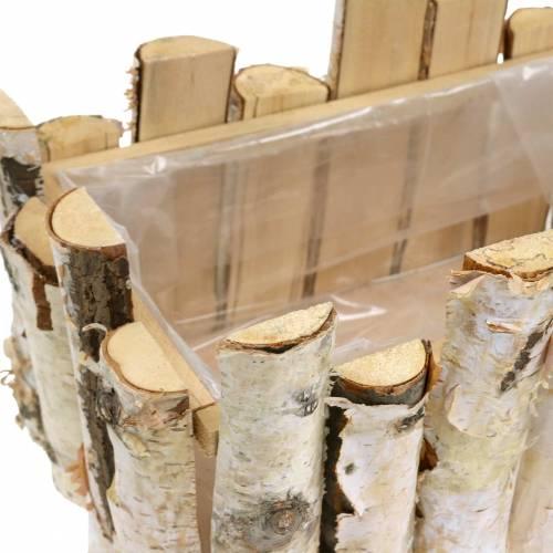 Plantering korg björkgrenar 29x17cm H30cm
