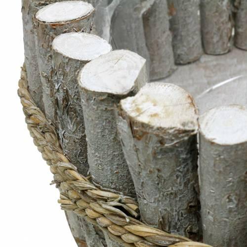 Planterskål gjord av grenar Ø33cm H13cm