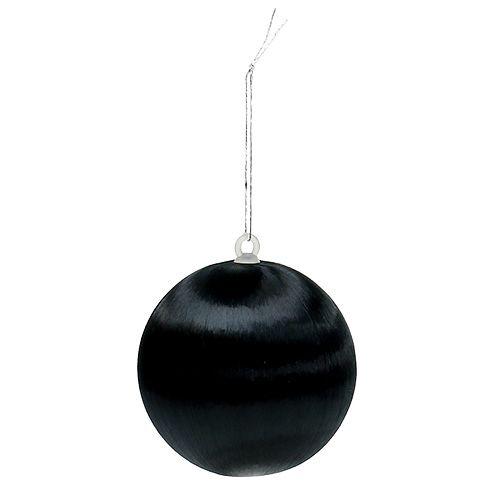 Plastkula svart Ø6cm 6st