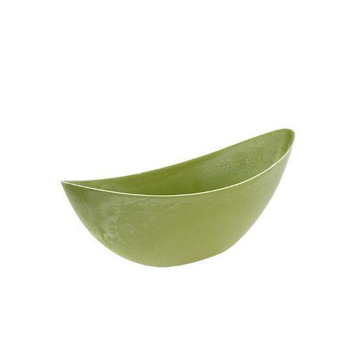 Plastskål 39cm x 12,5 cm H13cm ljusgrön