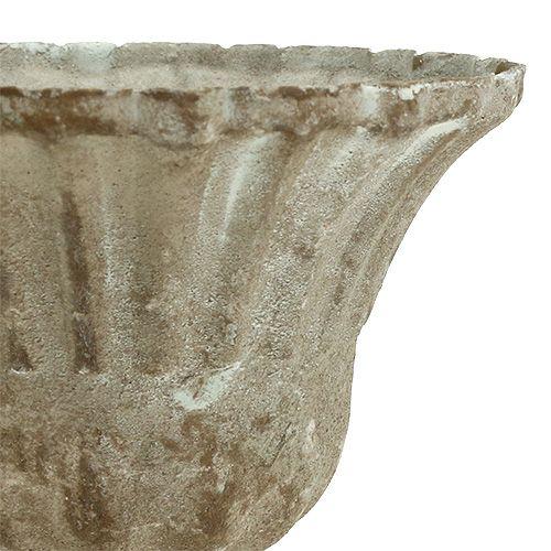 Koppgrå tvättad Ø12cm H13.5cm