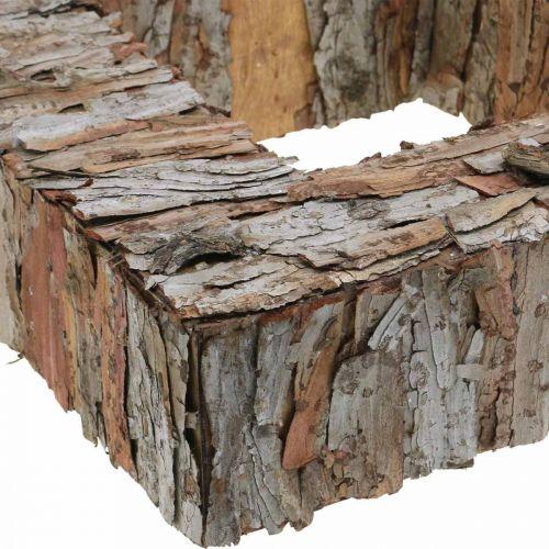 Deco trädbark fyrkantig öppen tallbark höstdekoration 30 × 30cm