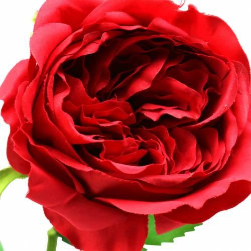 Ros konstgjord blomma röd 72cm