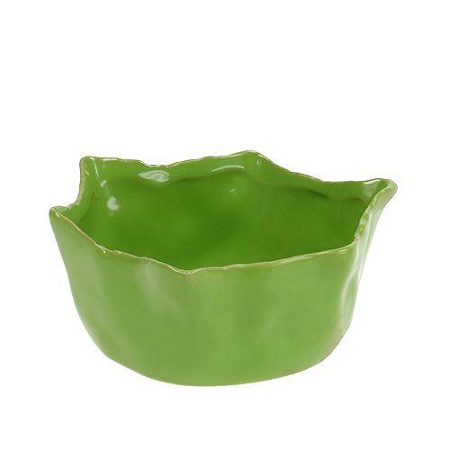 Keramisk skål i grön Ø13cm H6cm