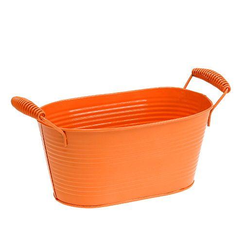 Skål oval orange 20 cm x 12 cm H9cm