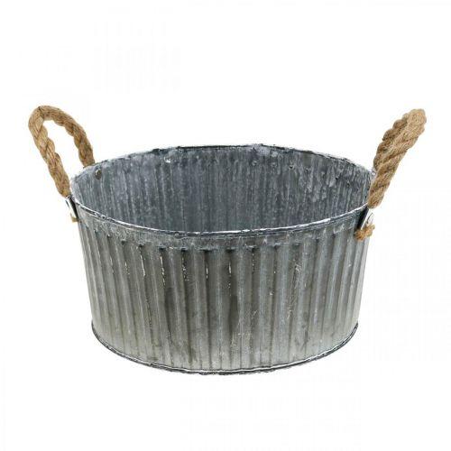 Dekorativ skål, planter med handtag, blomskål för plantering Ø25cm