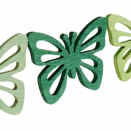 Strö dekorationsfjärilar, vår, träfjärilar, bordsdekoration för att strö 72st