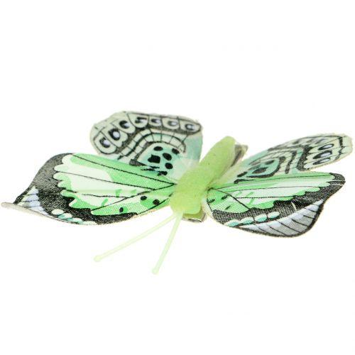 Dekorativ fjäril på klämman sorterad 5 cm - 8 cm 10 st