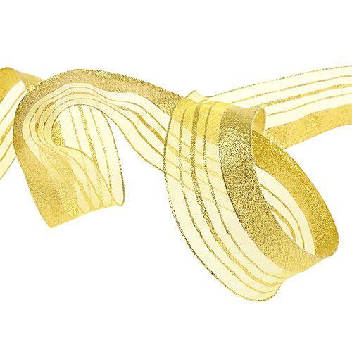 Smyckeband med lurexband guld 40mm 20m
