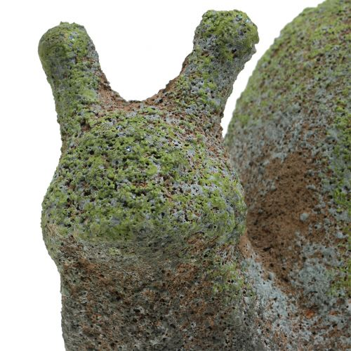 Trädgårdsfigur snigel mossig 31 cm x 17 cm H17cm