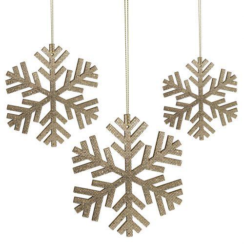 Snöflingaguld för hängande Ø8cm - Ø12cm 9st
