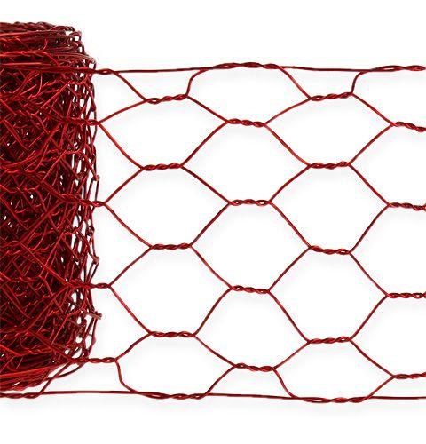 Sexkantig flätning 50mm 5m röd