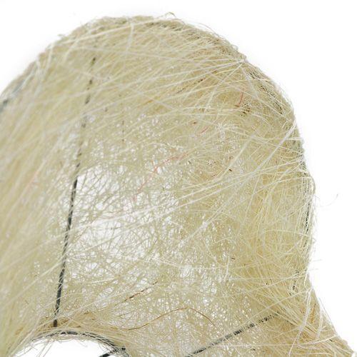 Sisal manschetthjärta 15 cm x 19 cm blekt 1 st