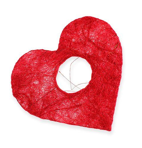 Sisal hjärtmanschett 10 cm röd 12st