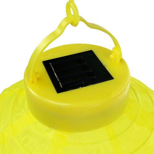 Lampion LED med 20 cm gul sol