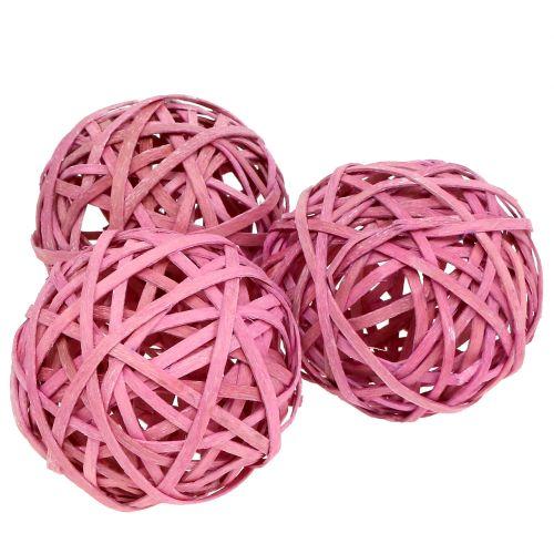 Spanball Pink Ø6cm 6st