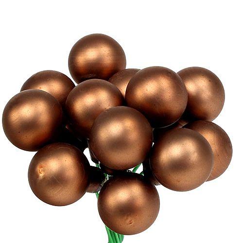 Spegelbär Ø1,5cm brun-guld 140p