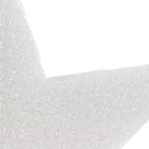 Stjärna för hängande vit 37cm L48cm 1p