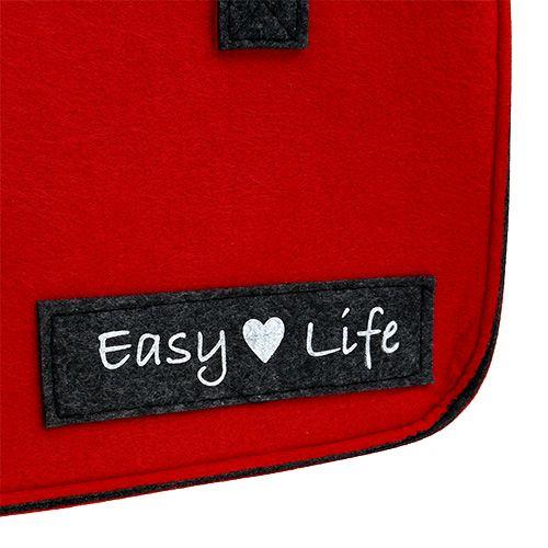 """Väska """"Easy Life"""" 39 cm x 22 cm x 25,5 cm rödgrå"""