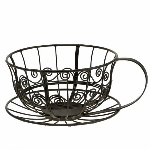 Dekorativ kopp mörkbrun Ø23cm H13.8cm