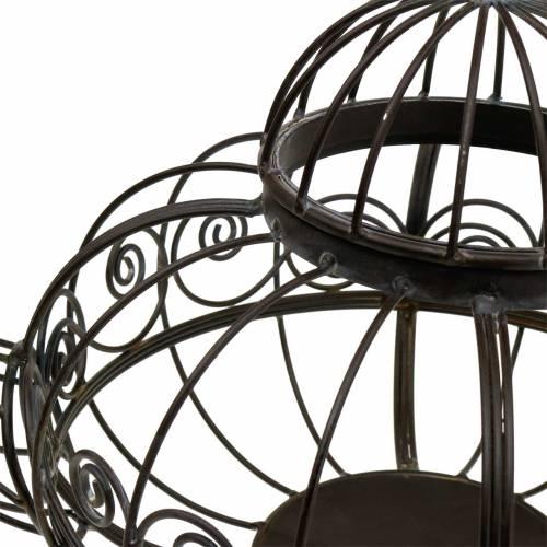 Dekorativ tekanna cachepot metall mörkbrun Ø28cm H24cm