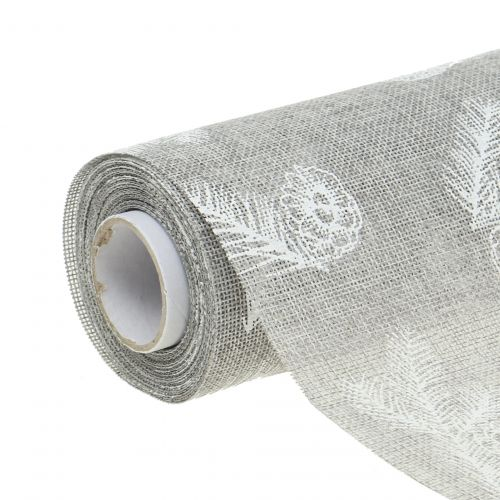 Bordsband med granmotivgrå 20 cm 5m