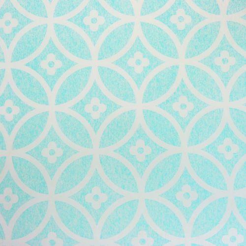 Bordslöpare med mönster ljusblå 30 cm x 300 cm