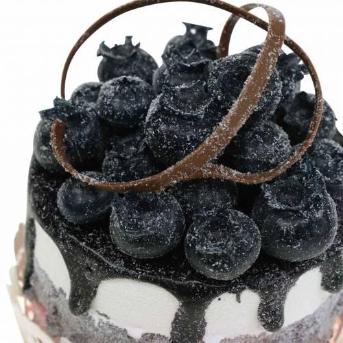 Dekorativ cupcake blåbärsmat replika 7cm