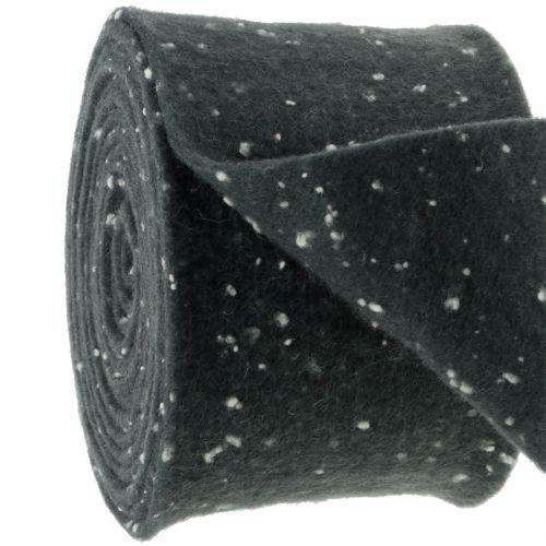 Pottejp filttejpgrå med prickar 15cm x 5m