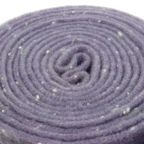 Pottejp filtband lila med prickar 15cm x 5m