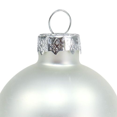 Julkulglas Ø6cm silvermix 24st