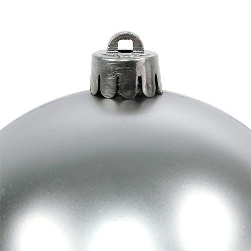 Julkula silver Ø10cm 4st