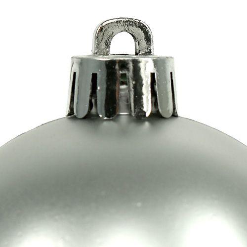 Julkula plast Ø6cm silvermix 12st