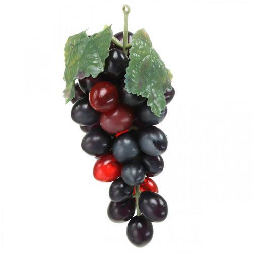 Dekorativ druvsvart Dekorativ frukt Konstgjorda druvor 15cm