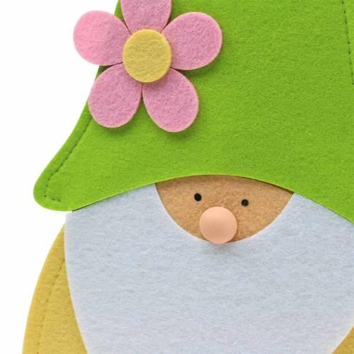 Gnome stående stående filtgrön, fönsterdekoration 22cm x 6cm H51cm