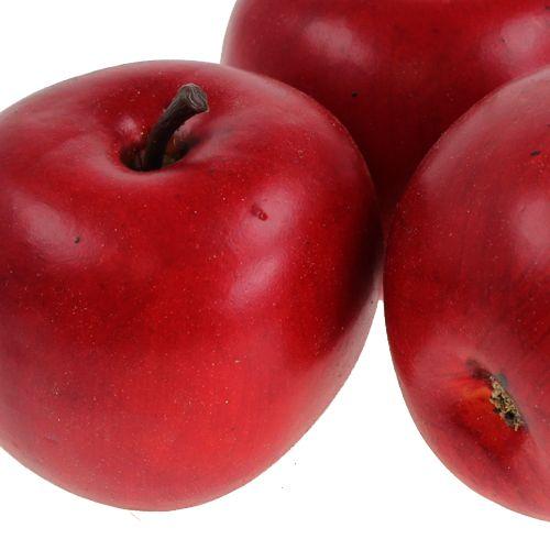 Dekorativ äppelröd 6,5 cm 12 st